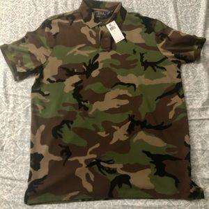 Polo Ralph Lauren Camo Polo Shirt Size Large